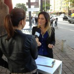 Letícia Radaic no Programa Hoje em dia - TV Record