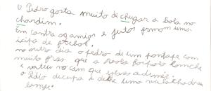 exemplo de escrita dislexa